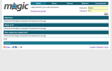 Screenshot of Magic Layout
